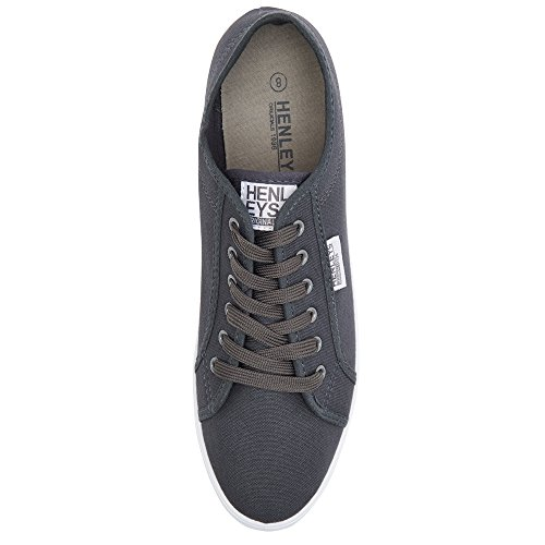 Connor Shoes Men's Quiksilver Charcoal KRMSL373 Grey Canvas Foundation qX6a8