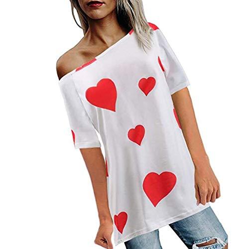 YEZIJIN Women Girls Plus Size Print Tees Shirt Short Sleeve T Shirt Blouse Tops 2019 New Sexy T-Shirt White -