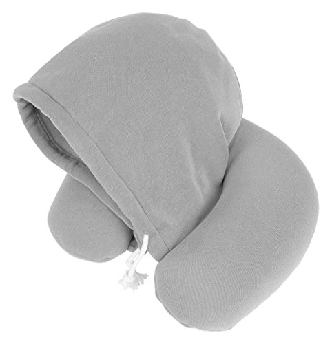 Travelstar Hoodie Travel Neck Pillow  Grey By Travelstar