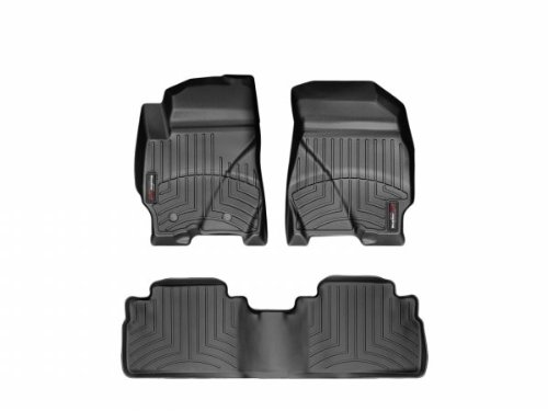 Floor Row Liner (WeatherTech - 443541-441192 - 2010 - 2012 Ford Escape Black 1st & 2nd Row FloorLiner)