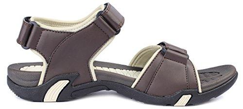 Kunsto Men's Sport Outdoor Sandal US Size 10 Brown by Kunsto (Image #1)