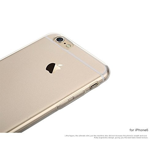 Funda iPhone 6 Plus/6S Plus Carcasa Gel Transparente Caso Suave Flexible TPU Claro Silicona Ultra Fina Delgado Back Cover Anti-Rasguño Protectora Trasera Case