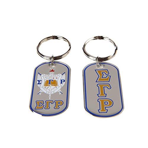 (Sigma Gamma Rho Sorority Dog Tag Key chain)