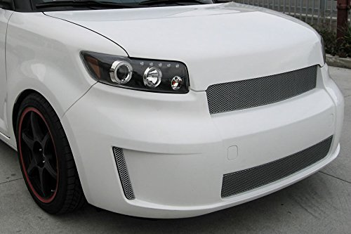 GrillCraft TOY1852S MX Series Silver Upper 1pc Mesh Grill Grille Insert for Scion XB (Xb Grillcraft Scion Grille)