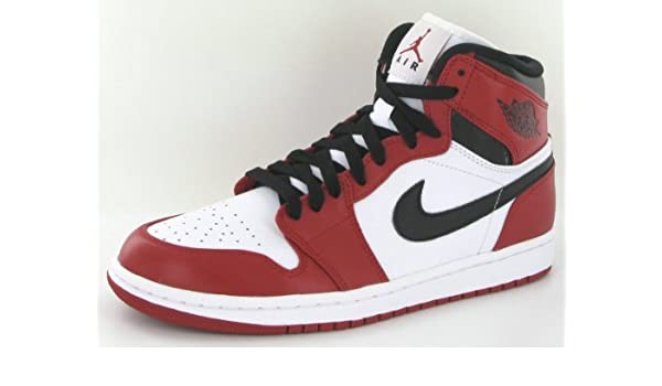 low priced f73da 51b4c Amazon.com   Air Jordan 1 Retro (OG) White Varsity Red-Black (11)    Basketball