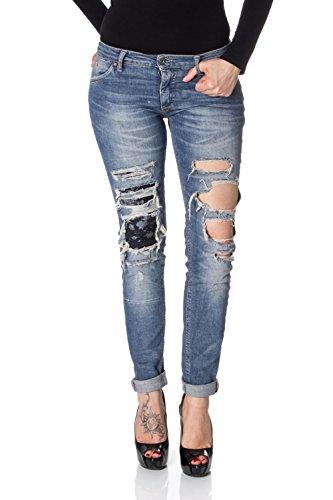 Chiaro Jeans Skinny Strappato Denim Please Slim Donna P95 x1qwz0d08