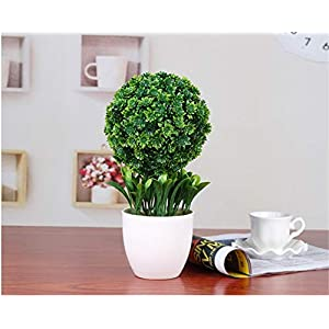 JruF Snowball Flower Green Artificial Fake Flower Fake Tree, Garden Tabletop Artificial Potted Plant/Modern Decorative Fake Flower 28