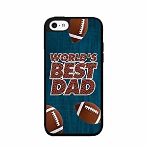 World's Best Dad Plastic Phone Case Back Cover iPhone 4 4s comes with Security Tag and MyPhone Designs(TM) Cleaning Cloth by runtopwell