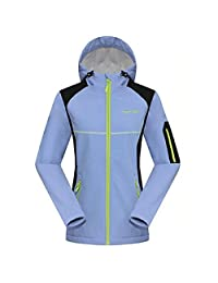 Partiss Women's Winter Ski Jacket Hooded Fleece Windproof Outerwear Jacket