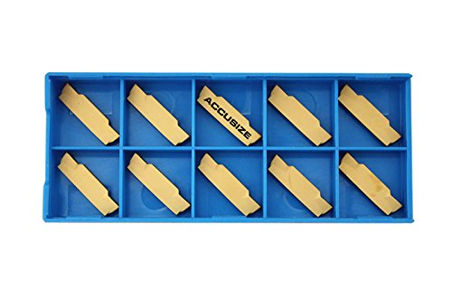 Accusize Tools - MGMN-3 Double End Carbide Cut-Off Insert, TiN Coated, 10 Pcs/Box, 2403-4026x10 by Accusize Industrial Tools