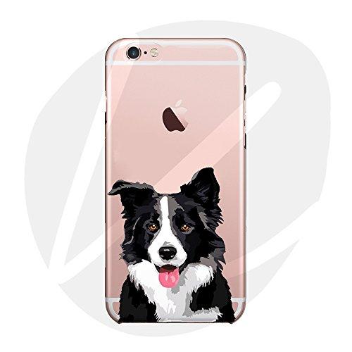 (T Cat) iPhone 6/6S Case Cover, Cute Pet Animal Cartoon Dog (Border Collie)Phone Case,Slim,Shock-Absorption,Anti-Scratch TPU Soft Case,with Lanyard---Border Collie (Border Pet)