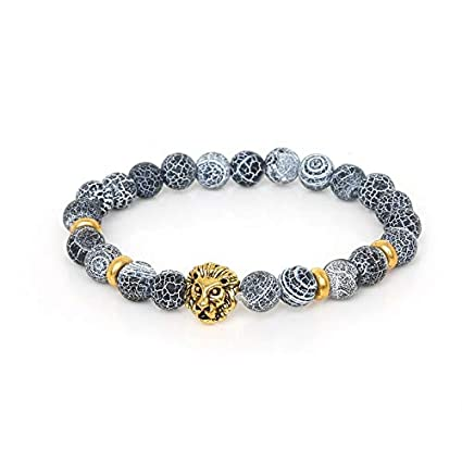 Amazon.com: Buddha Bracelet 8mm Black Tiger Eye Dream Fire ...