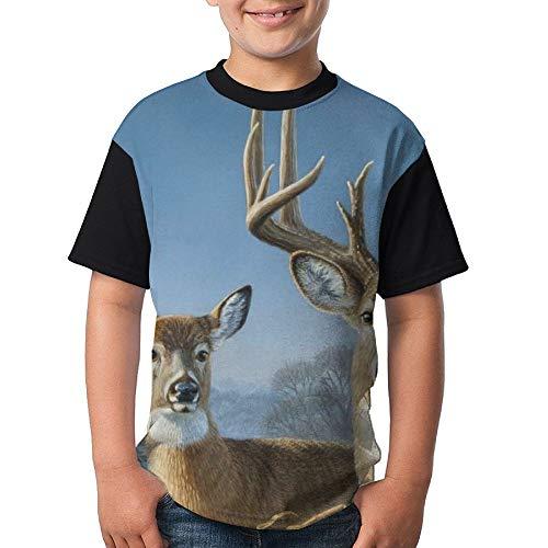 ENGJDHEH Teenager T Shirt Deers Teen Short Sleeve