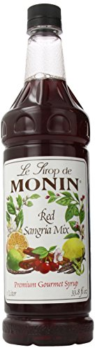Monin Flavored Syrup, Red Sangria Mix, 33.8-Ounce Plastic Bottles (Pack of 4) ()