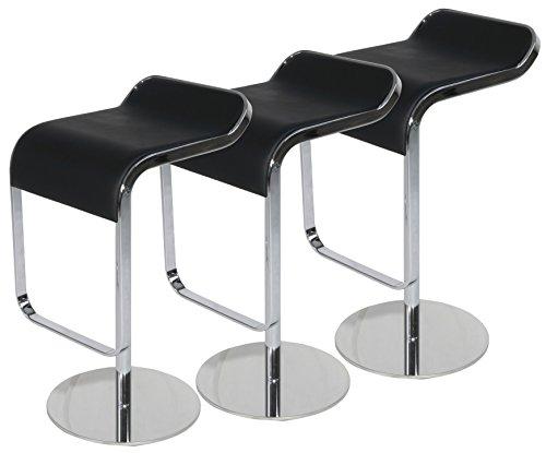 Emorden Furniture LEM Style Piston Bar Stool in Top Italian Leather, Adjustable (27.2