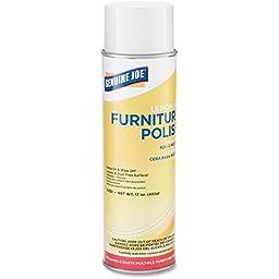 Genuine Joe GJO10351CT Furniture Polish Spray, 17 oz., Lemon Scent (Pack of 12)