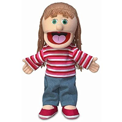 'Emily'', 14In Glove Puppet, Peach -Affordable Gift for your Little One! Item #DSPU-SP3821 by Silly Puppets
