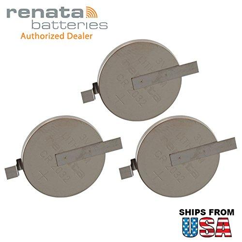 3X Renata CR2032-MFR-SM 3V Lithium Coin Battery HORZ SMT 2-PIN for PC Board Panasonic CR2032-WR, B-313, CR2032-TPX. IBM CMOS Battery Part Numbers: 12J1695, 02K6572, 12J1671, 02K6572, 12J1671