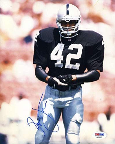 RONNIE LOTT PSA DNA Autograph 8x10 Raiders Photo Hand Signed Authentic