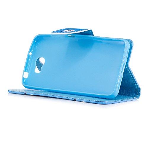 Hülle Huawei Y5 II,BtDuck Kreativ Buntes Muster Tasche Brieftasche Handyhülle Ledertasche Magnetverschluss Flip Cover Schutzhülle für Huawei Y5 II Cover Slim Brieftasche Weihnachtsgeschenke für Frauen Y5 2-Regenbogen
