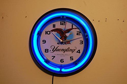 Yuengling Beer Neon Logo Wall Clock