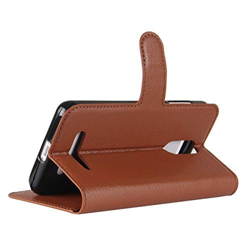ID for M5 LTE Phone Cover Folio Credit 4G M5 Brown with Leagoo Slots Genuine Flip Card Handmade Case Leather Case Protective Leagoo Edge HualuBro Wallet Edge Wallet Black f1vSOHZH