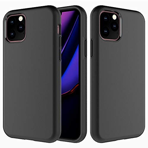 Heavy Duty Case Compatible with Apple iPhone 11 PRO 5.8 inch Cover Case,Dual Layer Hybrid Sturdy Armor High Impact Shockproof Protective Cover Case for Apple iPhone 11 PRO 5.8 2019-Black (Case Camra Iphone)