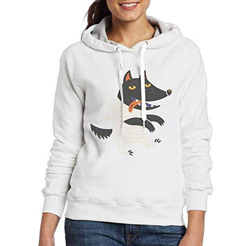 Stylish Cool Hoodies Jacket Wolf Halloween Costume Retro Sweatshirts for Women Lady]()