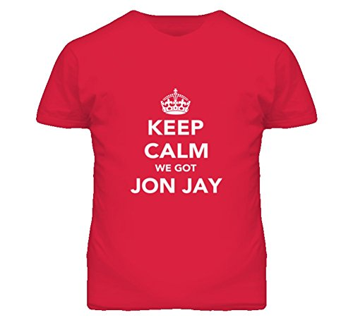 Mad Bro Tees Keep Calm Jon Jay Cardinals Fan Mens Funny T Shirt L Red