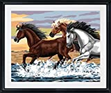 Plaid Creates Paint by Number Kit (16 by 20-Inch), 21703 Mesa Horses