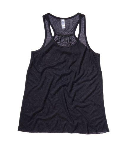 En toile pour femme bella flowy racer back gilet (gilet) t-shirt débardeur-noir-l