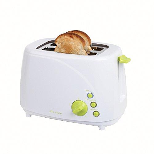 Grille-pain blanc/vert 2 fentes 850W - 3 témoins LED - DOD150BV