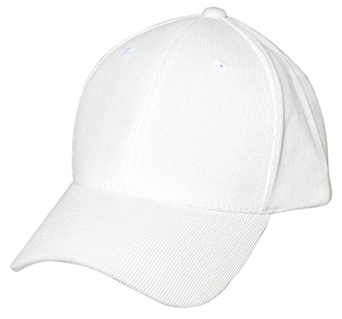 Solid Corduroy Adjustable Baseball Cap (Structured), White