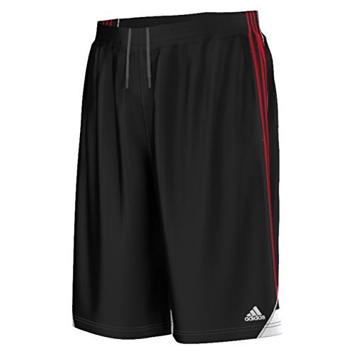 adidas Men's Basketball 3G Speed 2.0 Shorts, Black/Scarlet, Large Adidas Gym Shorts