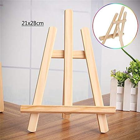 Caballete de madera de 21 x 28 cm para manualidades, soporte ...