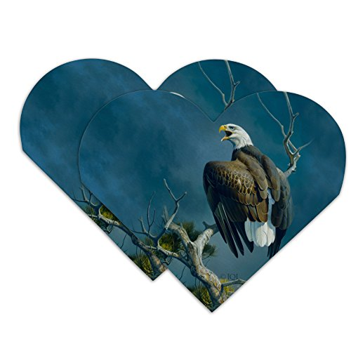Bald Eagle Nest Raptor Heart Faux Leather Bookmark - Set of 2