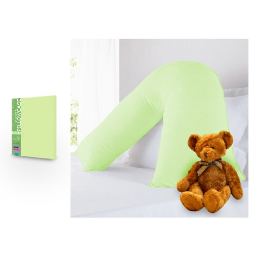 Ready Steady Bed Childrens Pure 100% Cotton V Shaped Pastel Green Pillowcase