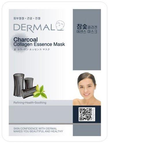 DERMAL Charcoal Collagen Essence Facial Mask Sheet 23g Pack of -