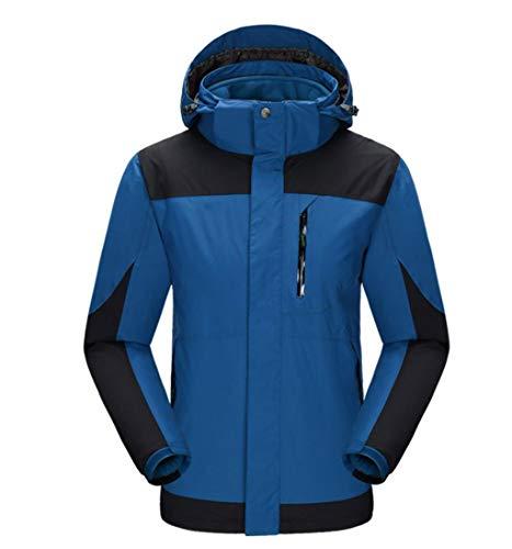 3-in-1 Outdoor Mountaineering Jacket Windproof Waterproof Travel Ski Coat Blue