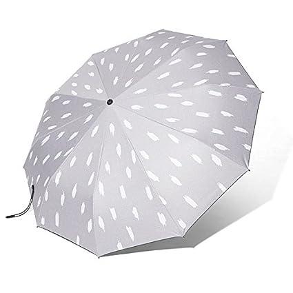 Paraguas plegable automatico Mujer niño Hombre an- Protección UV con Tres 10 Costillas Grandes y