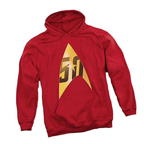 Star Trek 50th Anniversary -- Delta Shield Emblem On Red ...