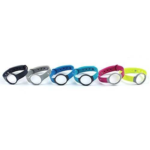 SUPOW(TM) 6PCs No Tracker Replacement Bracelet Sport Wristband Arm Band Armband Wrist Band Strap With Clasp For Misfit Flash (No Tracker)