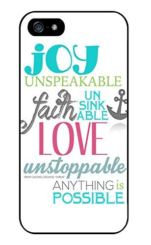 Color.Dream Anchor Quotes About Joy Unspeakable Plastic Hard Back Case Cover for iPhone 7Plus (5.5')