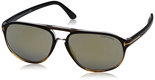 Tom Ford Sunglasses TF 447 Jacob Sunglasses 05C Black To Transparent Gold - Ford Tom Sunglasses Jacob