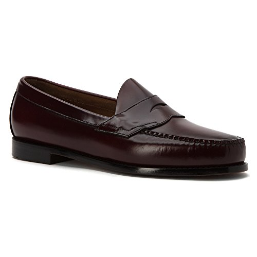 G.H. Bass & Co. Mens Logan Flat Panel Loafer Burgundy Box Leather CbXFu