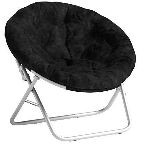Saucer Chair for Kids, Teens Saucer Chair, Black Game Room C
