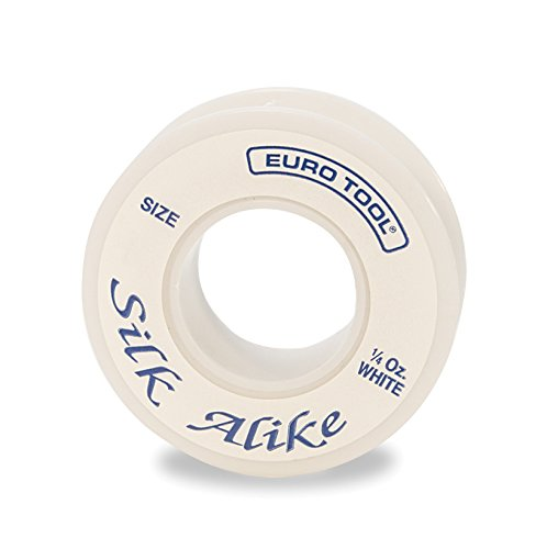 Silk Alike Beading Cord, White, Size 2 (e), 66 Yards | BDC-631.02