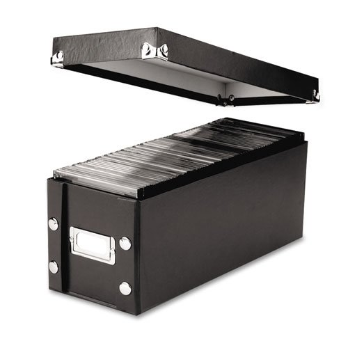 CD Storage Box, Holds 60 Slim/30 Std. Cases