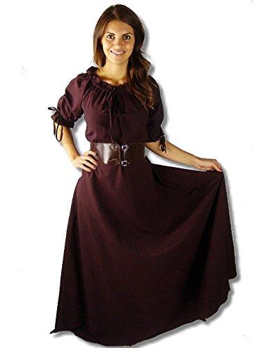 Mittelalter Marktkleid Dunkel Kurzarmkleid Braun Josefine 8Oq0rf8