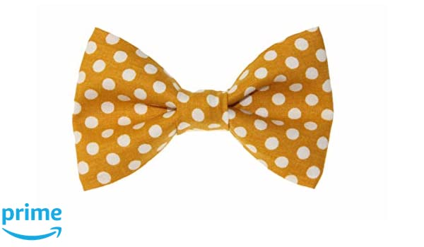 Choose Men/'s or Boys New White With Colorful Dots Clip-On Cotton Bow Tie